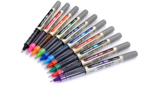 10 couleurs uni-ball EYE